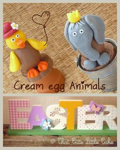 {Easter} Decorated Cream Egg Animals - More designs and TUTORIAL | That Cute Little Cake
