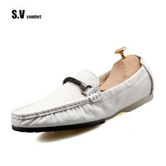 >> Click to Buy << Formal Shoes Man SVBrand Genuine Leather Moccasins Loafers Men Summer Slip On Flats Comfy Driving Shoes Tenis Feminino Esportivo #Affiliate