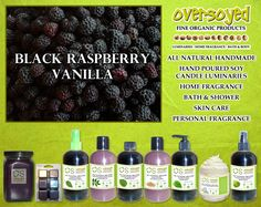 Black Raspberry Vanilla (Compare To Bath & Body Works®) Product Collection - Ripe black raspberries are mixed with dark plum and warm vanilla.  #OverSoyed #BlackRaspberryVanilla #Candles #HomeFragrance #BathandBody #Beauty