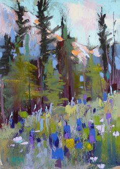 Colorado Mountains Landscape 5x7 Original by KarenMargulisFineArt, $100.00