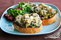 cheesy roasted broccoli sandwiches.