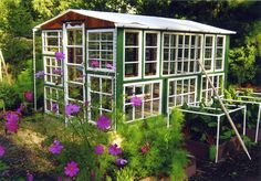 The Art Of Up-Cycling: Garden House Made With Old Doors - Quirkey Ideas