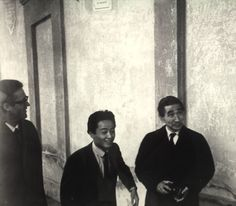 mio papà Glauco con Kenzo Tange