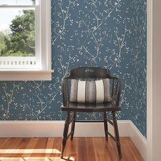 Tadley Blue Branch Wallpaper
