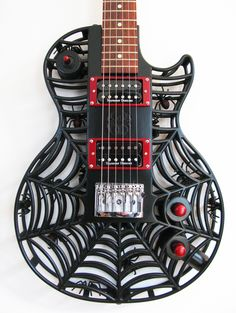 Spider LP 3D printed guitar by Olaf Diegel of ODD