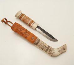 Halvhornskniv av Ivar Bertil Lampa Pajala på Tradera.com - Knivar från