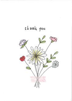 Thank You Large Bouquet - Portrait - Hand Made Greeting Card - Blank Inside Watercolor Cards, Watercolor Flowers, Watercolour, Mothers Day Drawings, Card Drawing, Mothers Day Cards, Custom Cards, Flower Cards, Blank Cards