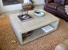 Image result for concrete coffee table