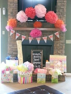 Sweet baby girl shower