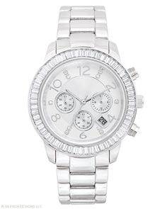 I LOVE this watch!  Such a great statement piece with a touch of sparkle. Finishing Touch Watch, Watches - Silpada Designs