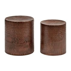 Hammered Copper Garden Stools, Set of 2   Kirklands