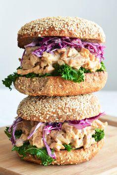Vegan Smoky Tahini Jackfruit Sandwich - The Colorful Kitchen