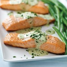 Just 20 minutes to delectably flaky salmon with creamy basil sauce. Your family is very lucky to have you.