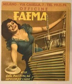 Faema coffee machine, Italy. Artist: Gino Boccasile