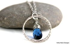 Necklace sterling silver intertwining circles by HollyMackDesigns, $76.00