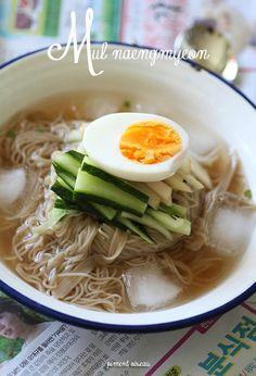Mul Naengmyeon, nouilles froides coréennes au sarrasin - Cold buckwheat korean noodles