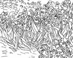 71 coloriages duvres dartistes peintres imprimer artwork for kidsfree printable coloring pagesart vanvincent van goghcoloring