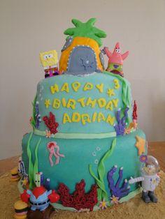 Sponge Bob birthday cake