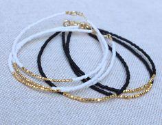 Bracelet en or perle. Bracelet en or de par lizaslittlethings