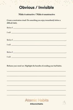 Printable writing prompts for journaling, self care, social emotional learning, to increase motivation. Habit Formation, Daily Journal Prompts, Lack Of Motivation, Writing Motivation, Good Habits, Coping Skills, Daily Affirmations, Along The Way, Self Improvement