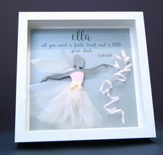 Personalized Name Paper Origami Shadowbox Frame with Paper