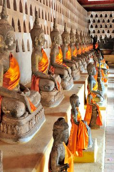 The Wat Sisaket is the oldest temple in Vientiane with thousands of Buddha statues, Viangchan, Laos Vientiane, Luang Prabang, Laos Travel, Asia Travel, Taiwan Travel, Beach Travel, Places Around The World, Travel Around The World, Voyage Laos