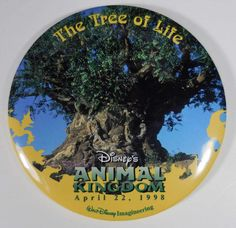 WDW Disney Animal Kingdom Tree of Life Imagineering Excl Opening Day Button #Disney