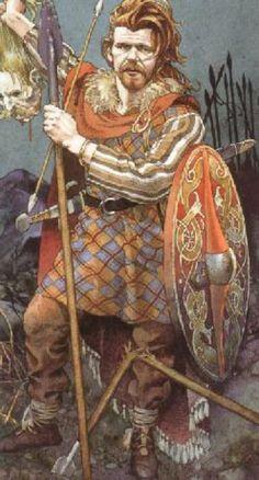 Cu Chulainn: Artist impression of the mythical warrior