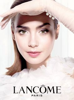 Lily Collins @ Lancome Ad from May 2014