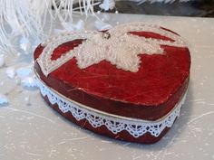 Red Heart Tin Hand Embellished One of a Kind by AlteredStateofTin, $20.00