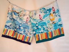 Come Sail Away with this beautiful set from Lilly Bo Chic. This handmade set is made from %100 cotton and features a vibrant water color print.