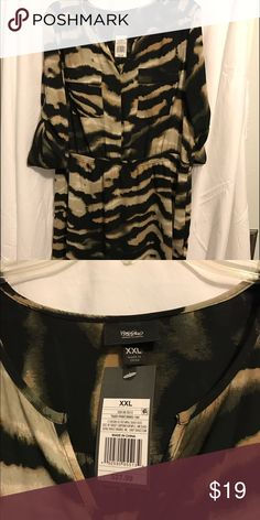 Multi color dress Beautiful army color dress; tan, black and green. Brand new with tags xxl Wassio Dresses Midi