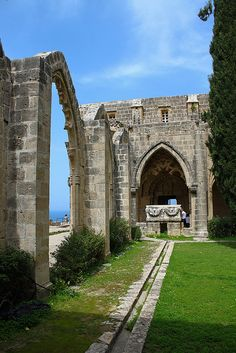 Bellpais Abbey, Cyprus, illegally occupied by Turkish troops since 1974 Beautiful Islands, Beautiful Places, Cyprus Greece, North Cyprus, Grand Tour, Historical Sites, Places To See, Cool Photos, Travel Photography