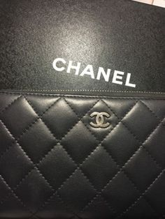 CHANEL TIMELESS CLASSIC WALLET IN BLACK PREOWNED