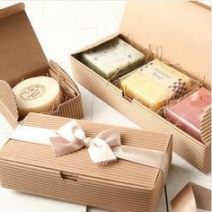 Corrugated Paper Box Bakery Cake Biscuit Cookies Box Food Soap Packaging Box 30 pieces