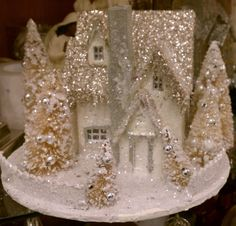 glitter houses christmas village - Google Search                                                                                                                                                                                 More