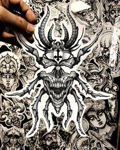 Cool Tattoo Drawings, Tattoo Sketches, Blackwork, Ozzy Tattoo, Beetle Tattoo, Anubis Tattoo, Dark Tattoo, Dot Work Tattoo, Neo Traditional Tattoo