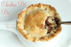 Low Carb Chicken Pot Pie, low carb pot pie, gluten free pot pie, low carb pie crust, gluten free pie crust, ketogenic chicken pot pie, keto pot pie recipe