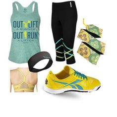 WOD Wear 008 by sarcy321 on Polyvore featuring Asics, Reebok, crossfit and CrossFitClothing