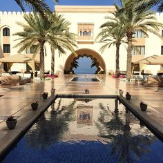 Shangri-La Hotel Al Husn, Muscat, Oman. Photo courtesy of chicflavours on Instagram. More Photos Courtesi #Travel #Vacation #Photography #BestVacations