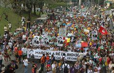 Manifestações nas ruas do Rio de Janeiro        de