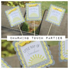 Baby Shower You Are My Sunshine Centerpiece by Charming Touch Parties. Fully Assembled and customizable. by CharmingTouchParties on Etsy Baby Shower Centerpieces, Baby Shower Favors, Baby Shower Parties, Baby Shower Decorations, Welcome Baby Banner, Welcome Door Signs, Congratulations Banner, Sunshine Baby Showers, Baby Banners