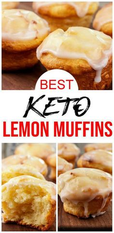 YUMMY keto lemon muffins you will want to bake up today! EASY low carb fathead dough recipe for the BEST muffins. These low carb lemon muffins only take about 10 minutes to mix up and are super… Low Carb Sweets, Low Carb Desserts, Low Carb Recipes, Lemon Desserts, Ketogenic Recipes, Keto Muffin Recipe, Simple Muffin Recipe, Low Carb Breakfast, Breakfast Dessert