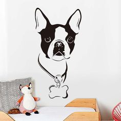 Boston Terrier Lovers Wall Decal Removable Vinyl Wall Art Home Decor  Price: 7.87 & FREE Shipping  #pets #dog #doglovergifts