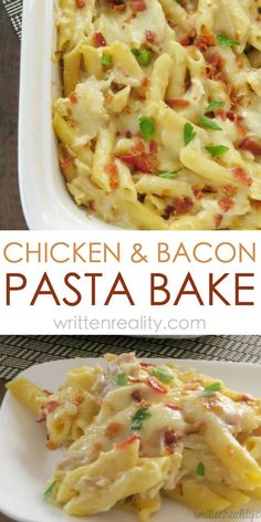 Easy Chicken Pasta Bake : Don't have a lot of time to spend on dinner tonight? This Chicken & Bacon Pasta Bake is one of our easy dinner casserole recipes that's ready in 30 minutes or less!