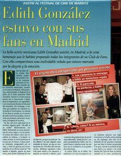 Foro Internacional de Corazón Salvaje - Scans sobre las visitas de Edith y Eduardo a España. Y el encuentro con los fans de CS - Actores