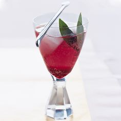 Bay leaves lend this spritzer a spicy fragrance that offsets the sweetness of the blueberries and plums.  Plus: Ultimate Cocktail Guide ...