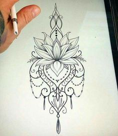 34 Ideas Tattoo Mandala Lotus Shoulder Tatoo For 2019 Lotusblume Tattoo, Tattoo Mond, Tatoo Henna, Tattoo Drawings, Hamsa Tattoo, Hindi Tattoo, Rose Drawings, Underboob Tattoo, Tattoo Music