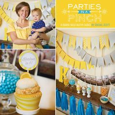 Parties in a Pinch: Tips on how to throw a good party that is either fast or cheap. First up, a FAST first birthday party!