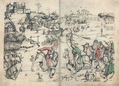 Hausbuch Wolfegg 22v 23r Hochwildjagd - Hausbuch (Schloss Wolfegg) – Wikipedia